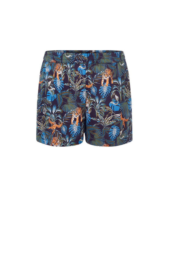 Thana Vegan Rayon Shorts in SOS Print
