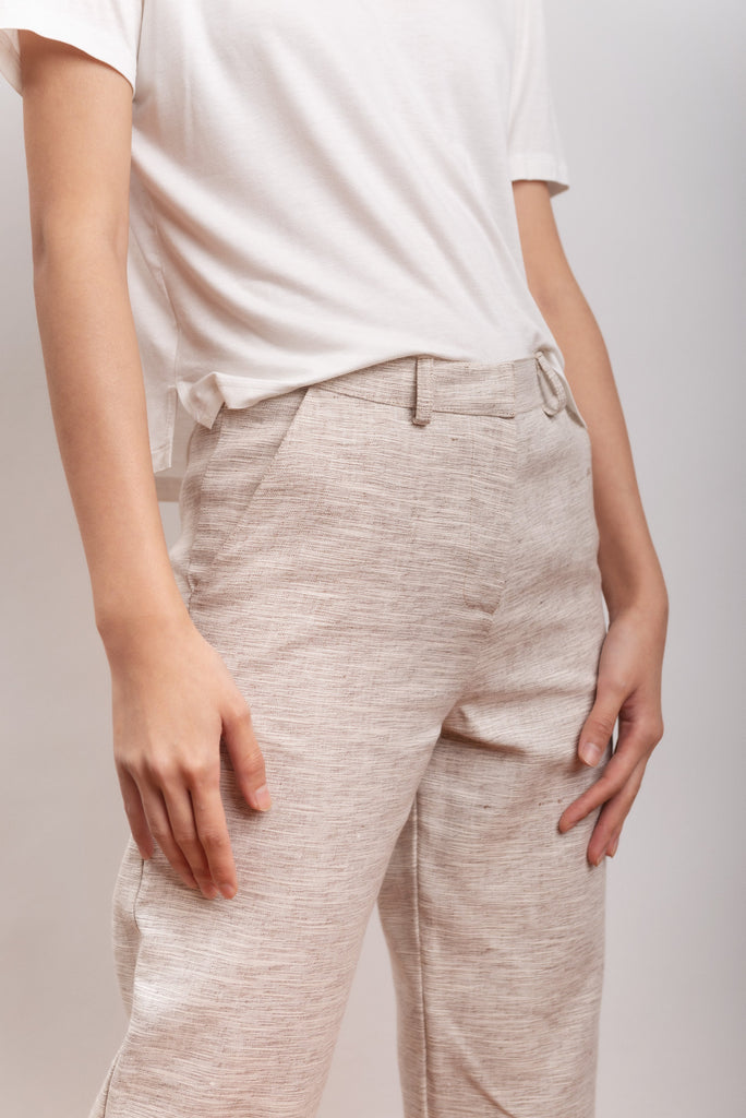 Elianto Vegan Hemp & Cotton Trousers in White