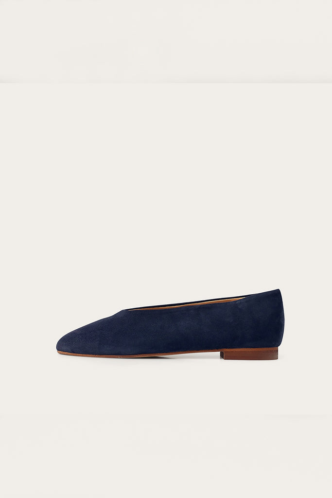 Opera Natural Cow Leather Shoes in Navy