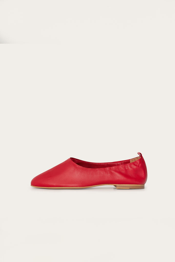 Kemet Natural Leather Shoes in Carmine Red