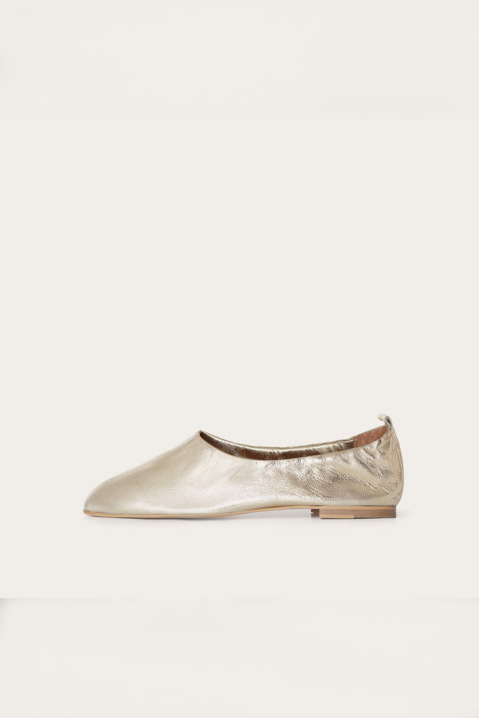 Kemet Natural Leather Shoes in Gold