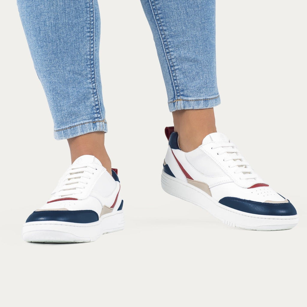 UX-68 Handmade Vegan Sneakers in Navy