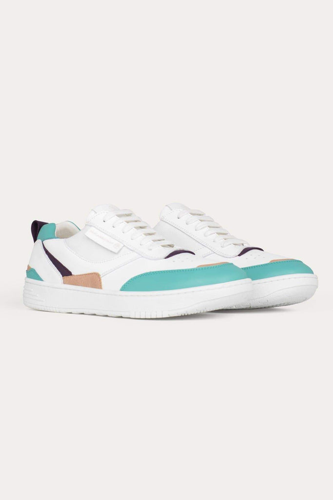 UX-68 Handmade Vegan Sneakers in Blue Water