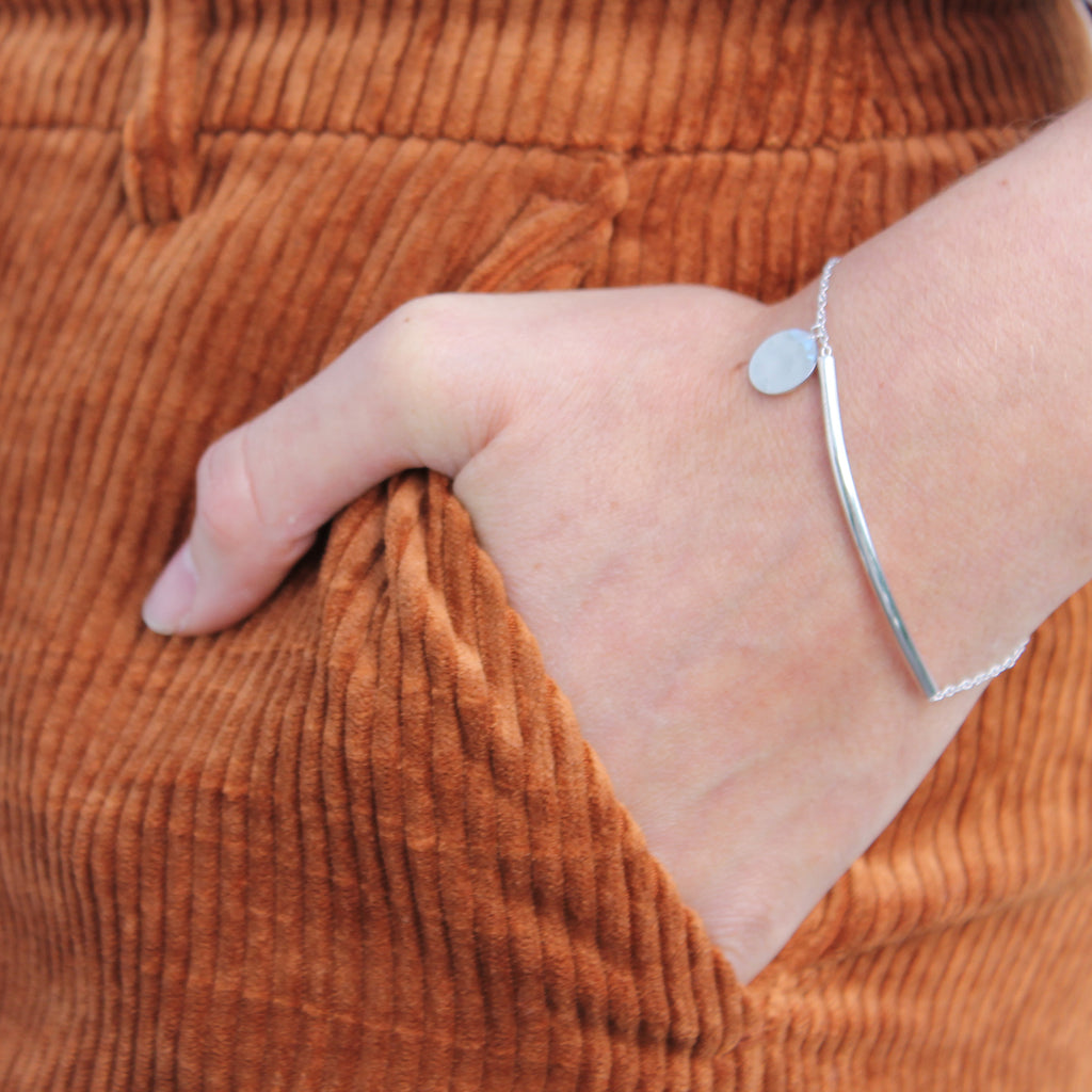 Virginia Handmade Gold-Plated Silver or Sterling Silver 925 Bracelet
