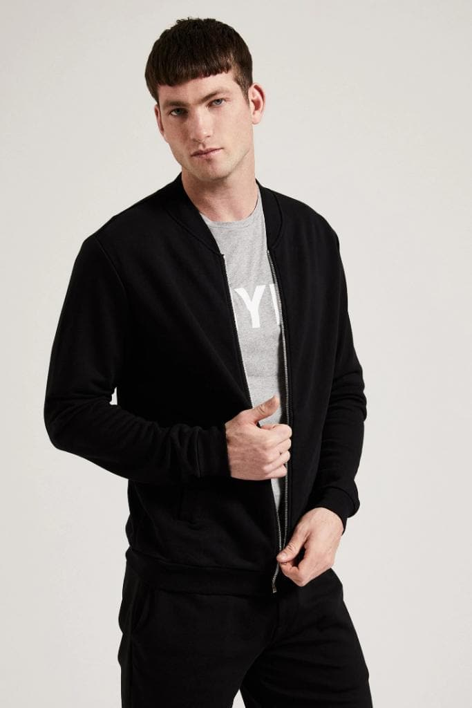 Organic Cotton Men Bomber Jacket - more colors