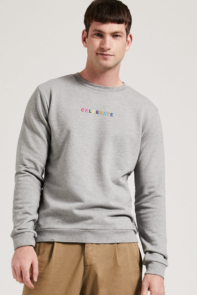 Organic Cotton CELEBRATE Sweater for Men in Grey