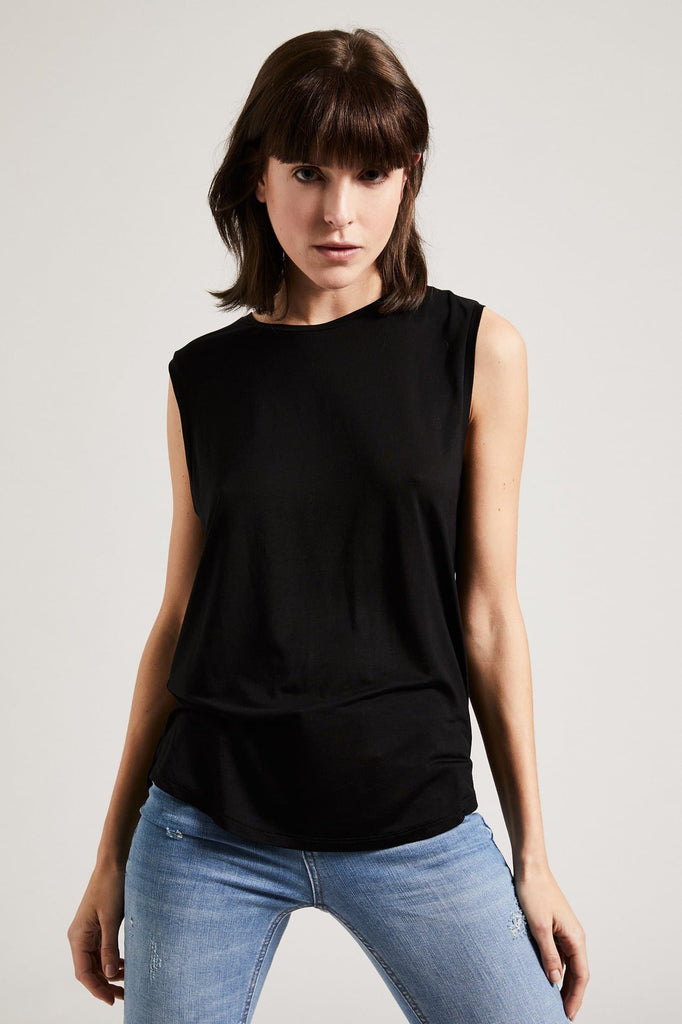 Organic TENCEL™ Lyocell Tank Top in Black