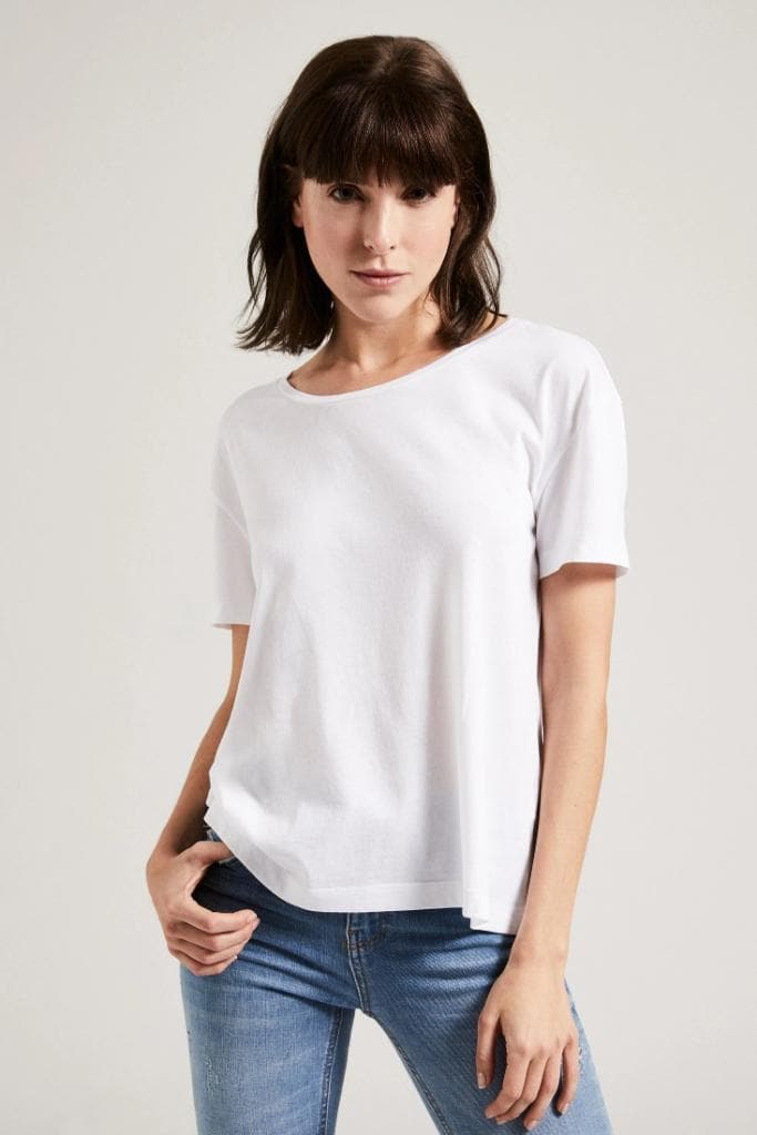 Organic TENCEL™ Lyocell Boxy T-Shirt in Different Colors