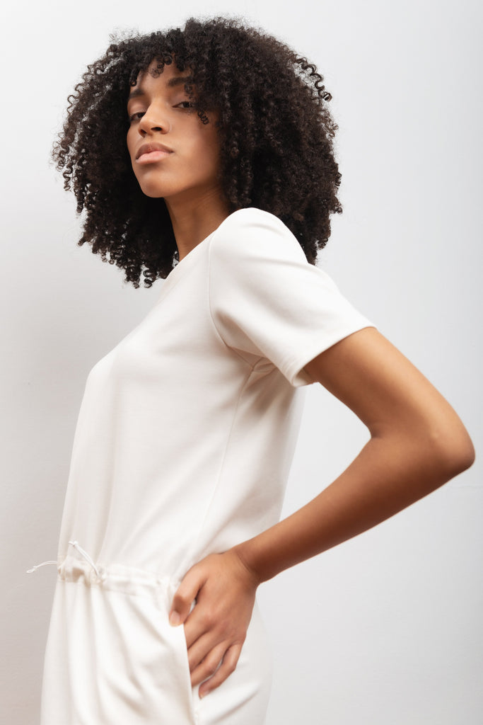 Camellia Ethical Bamboo Dress in White