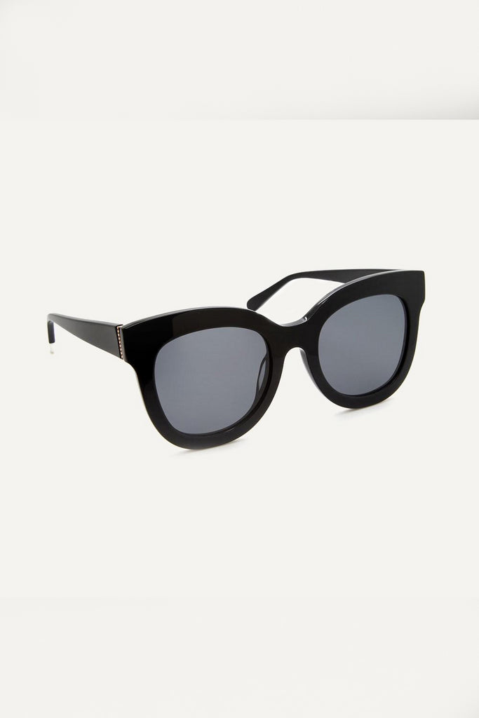 Zuri Ethical & Eco-Friendly Acetate Sunglasses in Black