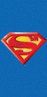 Superman Shield Beach Towel ~ Can Be Used for Bath