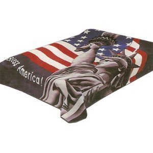 Solaron Queen God Bless America Korean Mink Blanket