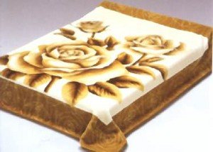 Roses Solaron Korean Thick Mink Plush Blanket Queen