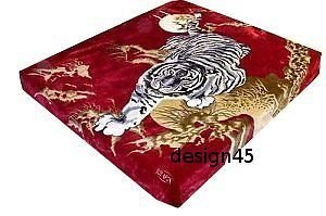 Solaron Korean Blanket throw Thick Mink Plush queen size Crouching Tiger License