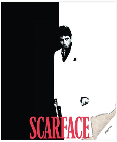 "Scarface ""Silhouette"" Double Sided Sherpa Queen Blanket"