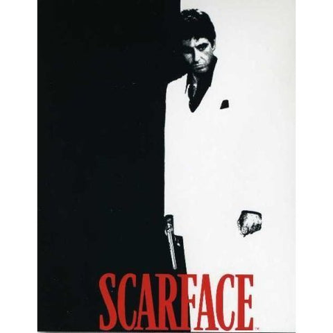 Luxuary Plush Black White Red Scarface (Tony Montana) Blanket Throw Queen or Full Bed