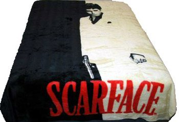 Licensed Queen Size Mink Blanket- Scarface