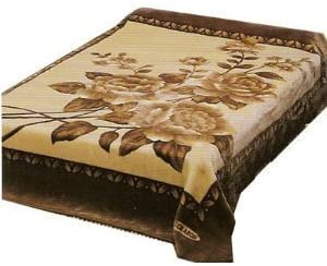 Solaron King Flower Beige Korean Mink Blanket Vietmam by Solaron