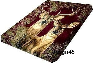 Solaron Korean Blanket original Licensed throw Thick Plush queen size Deer new