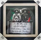DGA Day of The Dead Shadow Box Wood Frame w/Plexiglass Canvas Wall Art - Die On My Feet Zapata and Villa