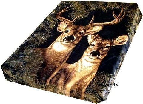 Solaron Korean Blanket original Licensed throw Thick Plush king size Deer new