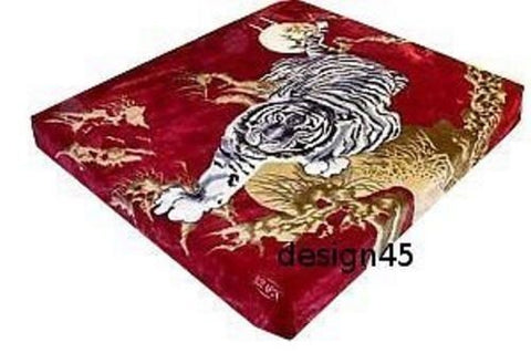 Solaron Korean Blanket throw Thick Mink Plush King size Crouching Tiger Licensed