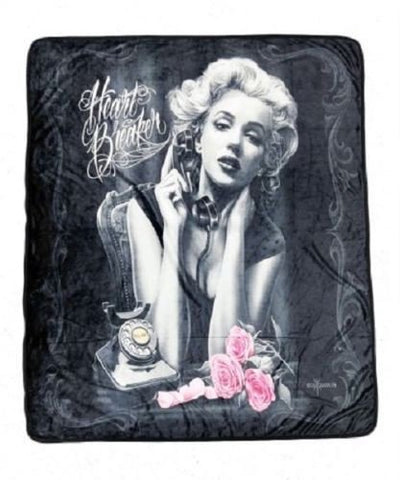 DGA Day of Dead Marilyn Monroe High Definition Super Soft Plush Micro Fleece Blanket 50x60 Inches - Heartbreaker