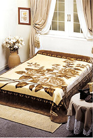 Rose Bush Solaron Korean Thick Mink Plush Blanket Queen