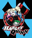 DC Comics Harley Quinn Blue Diamonds Joker Fleece Throw Blanket