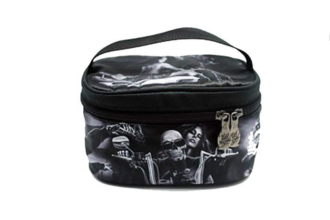 DGA Angels Day of the Dead Ride or Die Motorcycle Dead End/Lovers Travel Makeup Bag