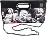 DGA Day of the Dead Marilyn Monroe Angels Bombshell Fashion Clutch Purse w/Shoulder Strap