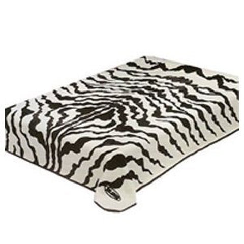 Solaron Queen Zebra Print Korean Mink Blanket