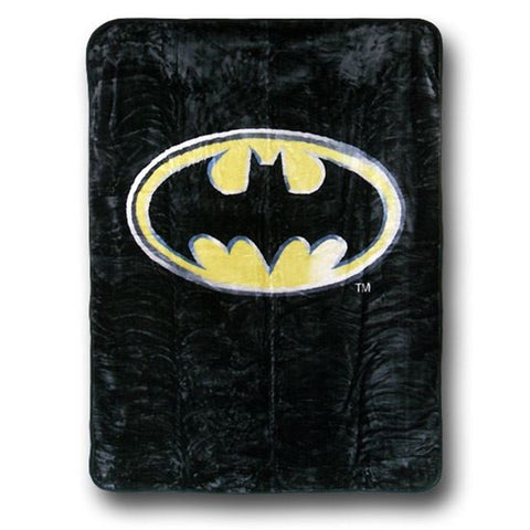 New Batman Emblem Queen Size Plush Raschel Blanket