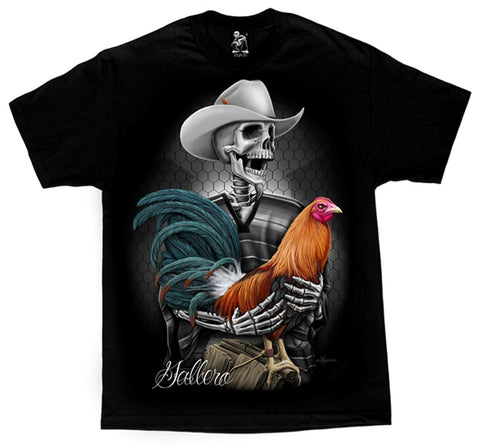 David Gonzales Men's Gallero Rooster Skelleton Rancher DGA Art T Shirt