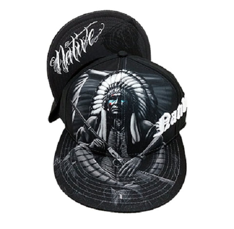 DGA Day of the Dead Original American Warrior Art Sublimation Men's Snapback Hat Native