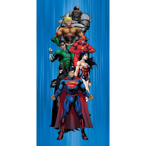 DC Comics Justice League Batman, Superman, Wonder Woman and Friends Fiber Reactive Beach Towel - Heroes