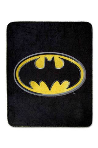 Batman 'Dark Knight Shield' Super Plush Fleece Throw Blanket