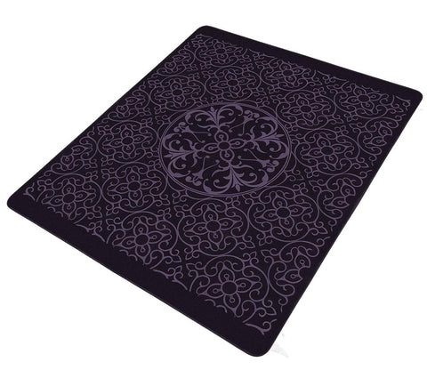 Solaron Collection Contemporary Embossed Quatrefoil Pattern Design Area Rug Purple 6' x 8'
