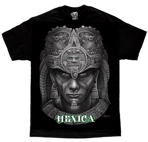 Mexica Aztec Tribal Mexico Calendar Chicano Art by David Gonzales DGA T Shirt