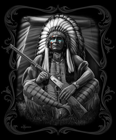 Queen Signature - Native Chief With Gun