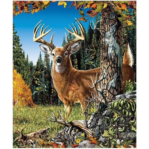 Find 9 Deers Fleece Throw Signature Collection