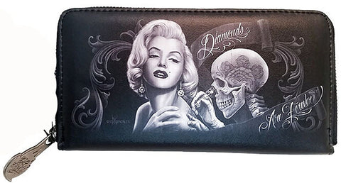 Marilyn Monroe Diamonds Are Forever Wallet By David Gonzales Art DGA