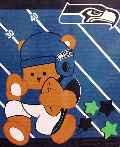 "Seattle Seahawks NFL Baby Plush Blanket 40""x50"""