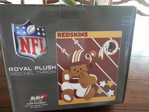 Washington Redskins Baby Blanket 40 by 50 inches New in Box