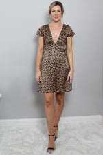 Satin Leopard Dress Glow Fashion Boutique