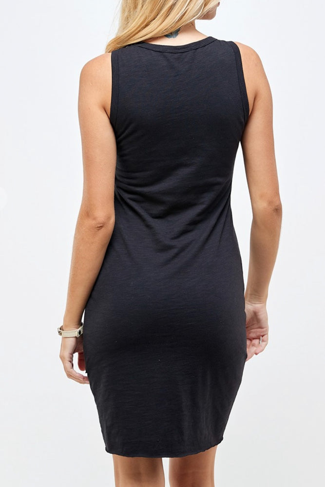Load image into Gallery viewer, Tias Tank Ruched Layered Dress