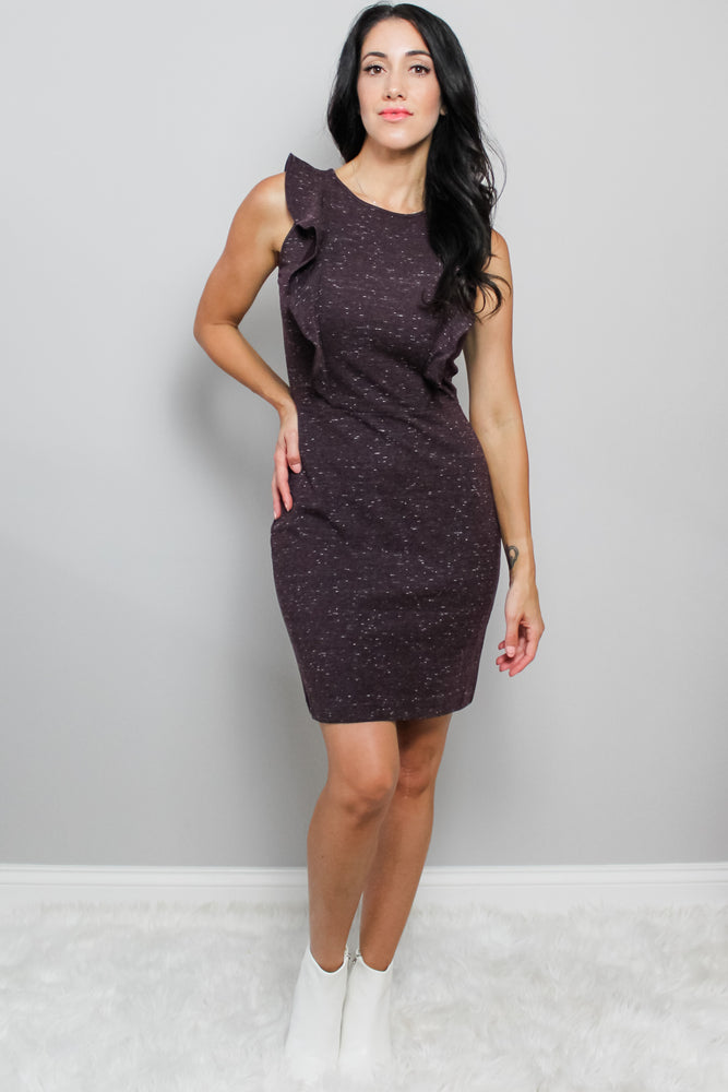 Eggplant Sleeveless fall Dress Glow Fashion Boutique