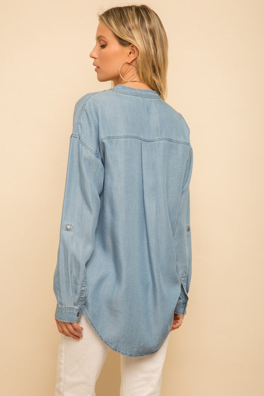 Eva Chambray Top