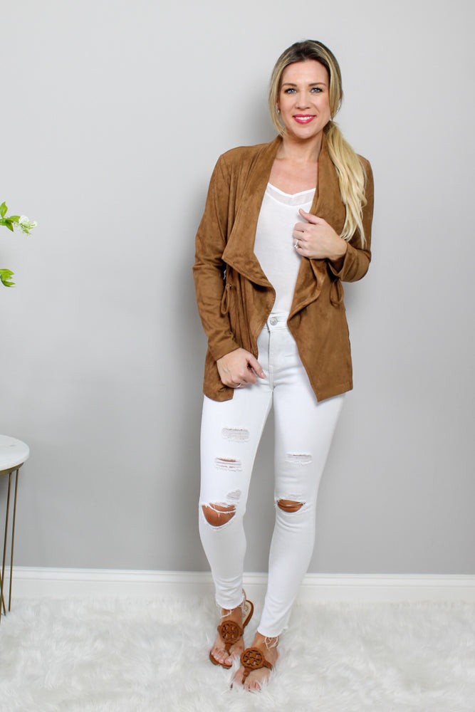 Just Hangin Faux Suede Jacket