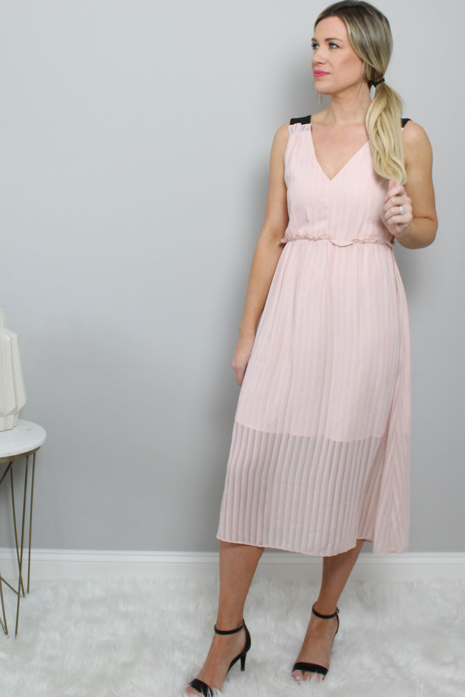 Load image into Gallery viewer, Pink Sleeveless Dress Glow Fashion Boutique